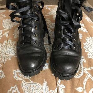 Frye combat/ hiking boots size 6.5 black